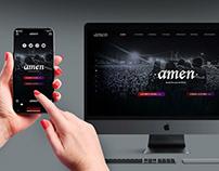 Desarrollo de página Web para banda Amen