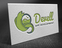 Freebie - Logo Template DevEll (Green Moray Ell)