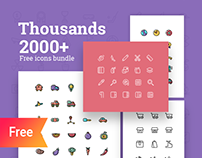 2000+ Free Thousands icons bundle - Colored and wired