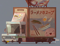 Asian Food. Game art
