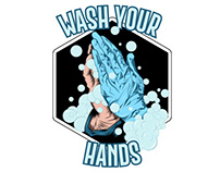 Wash Your Hands done on Illustrator on Ipad