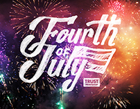 4th of July Lettering