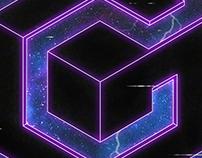 Neon Gamecube Logo