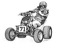 Quad Racing Illustration