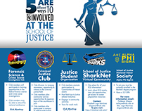 School of Justice Club Information Flyer