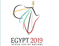 Unofficial Africa cup of nations Egypt 2019 identity