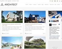 Blog Masonry Page - Architect WordPress Theme
