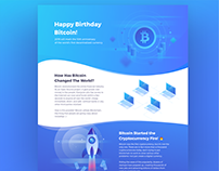 10 Years of Bitcoin | Infographic Landing Page