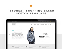 Storex Shopping Site Sketch Template
