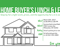 Postcard for Home Buyer's Lunch and Learn