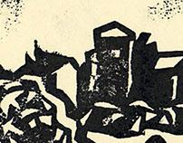 Isserteaux - Linogravure