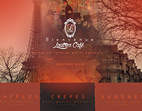 LAUTREC CAFE UI WEB DESIGN