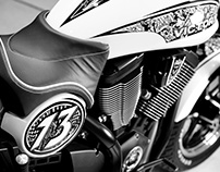 """Blind Justice"" Sharpie Motorcycle"