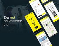 Desked | Mobile App & Web App Ui / Ux Design