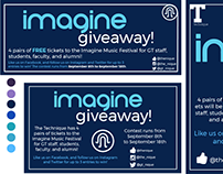 Imagine Festival Giveaway Advertisement