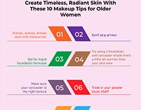 Radiant Skin With These 10 Makup Tips for Older Women