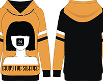 Fashion flat design of trendy hooded sweatshirt