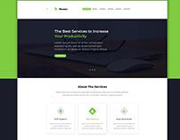 Landing page design for multiple business website