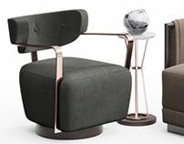 Caracole Chair Set / 3d model