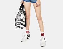 Stripes shopping bag for SS18 Bershka collection