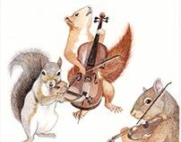 Squirrel Trio
