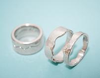 Interlocking Wedding Set