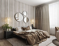 Aesthetic Bedroom Design Realistic 3D Visualization.