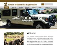 African Wildlife Experience website skeleton layout