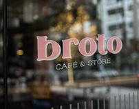 construção e lançamento de marca // broto café & store