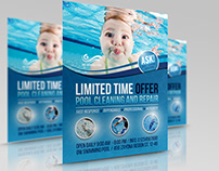 Swimming Pool Cleaning Service Flyer Template Vol.2