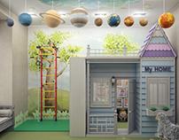 Игровая Космос и домик принцессы