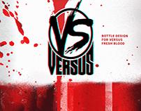 bottle design for Versus fresh blood