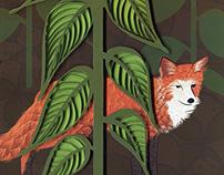 Fox paper art