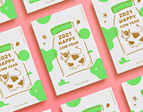 2021|Happy Cow Year 賀年卡