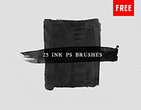 25 Watercolor and Ink Photoshop Brushes No.3 (Free)