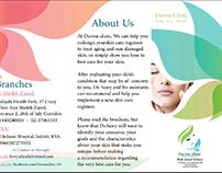 Derma Clinic brochure.