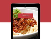 Cuisine - UI Design