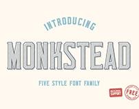 Monkstead Font (+ FREE FONT)