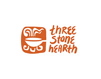 Three Stone Hearth CO-Op Identity and Broth Brochure