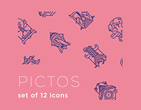 Set of 12 Icons
