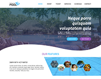 Pool Website Design Concept! #WEB2