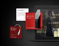 Leading the market/Landing page design