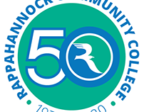 Logo for 50th Anniversary of Rappahannock Comm Coll