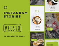 Resto Instagram Stories Template / Free PSD