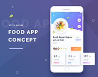 Food App Concep-Style Guides