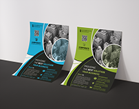 Creative A4 Business Flyer with 2 Available Color