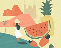 """Illustration - """"Velho Chico"""" Revista Propmark"""