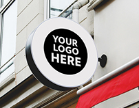 8 Shop, Restaurant, Cafe & Office Signs Mock-Up