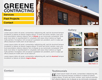 Greene Contracting Website Mock
