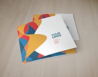 Square Colorful Dynamic Trifold